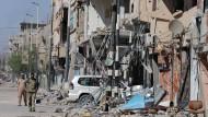 Folgen des Terrors: die zerstörte Stadt Palmyra in Syrien