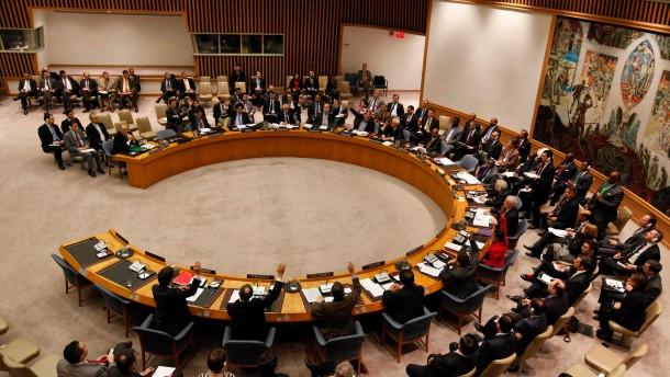 Beratungen im UN-Sicherheitsrat ueber Syrien-Resolution