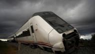 Zug entgleist in Spanien