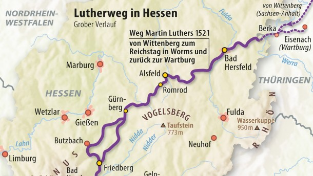Historischer Lutherweg wird am 14. Mai eröffnet