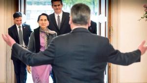 Merkel sagt Burma Unterstützung zu