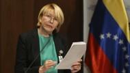 Die abgesetzte Generalstaatsanwältin Venezuelas, Luisa Ortega