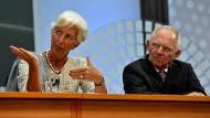 Uneins: IWF-Chefin Christine Lagarde und Finanzminister Wolfgang Schäuble