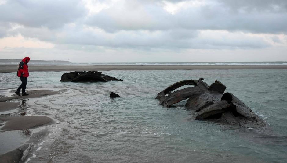 """""""Alle Bewohner von Wissant wissen, dass hier ein U-Boot liegt"""", sagt ein Touristenführer."""