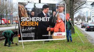 Union geht mit dem Thema Sicherheit auf Wählerfang