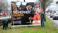 Sicherheit: CDU-Plakat im niedersächsischen Landtagswahlkampf 2013