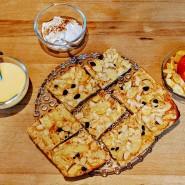 Goldbraun gebackenes Schmankerl: Apfelpfannkuchen vom Blech
