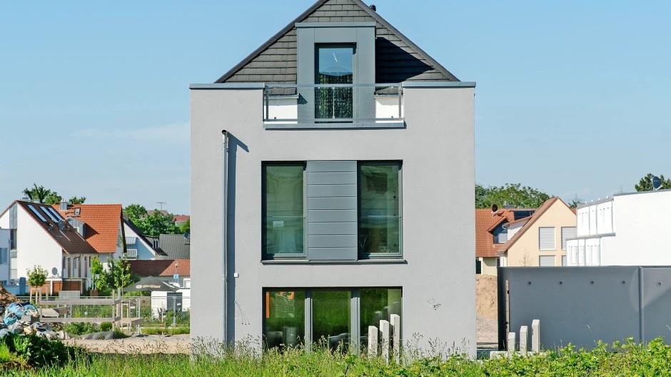 Ein Haus in einem Neubaugebiet bei Frankfurt