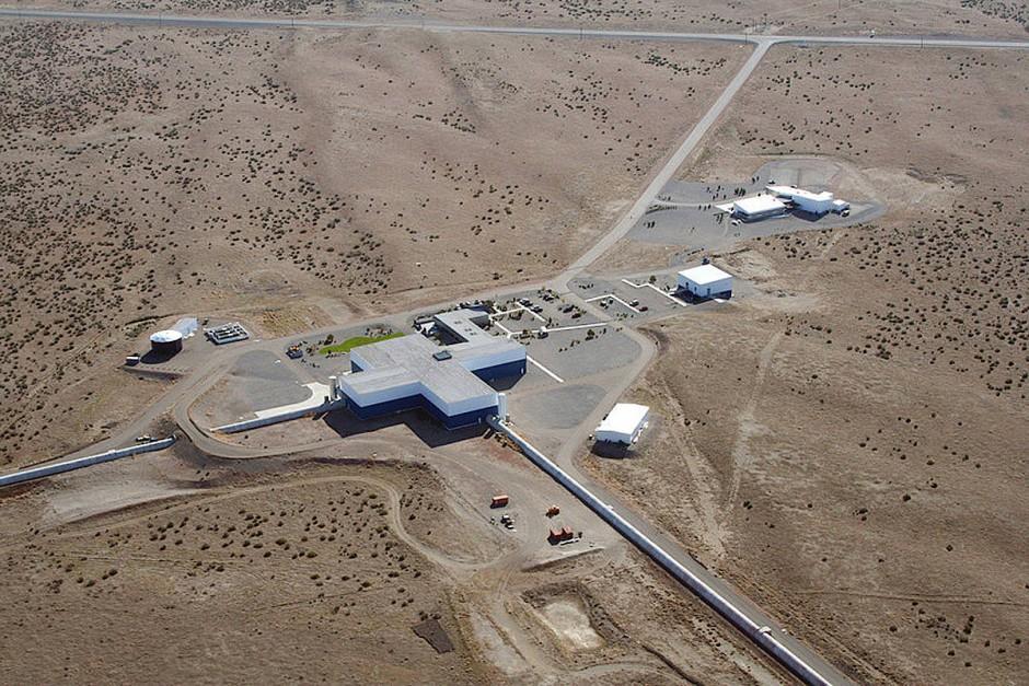 Die Gravitationswellen werden in hochempfindlichen Interferometern registriert, hier das Ligo-Observatorium im amerikanischen Hanford, das zum Zeitpunkt der Entdeckung nicht in Betrieb war.