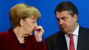 Gabriel will sich von Merkel nicht beschimpfen lassen