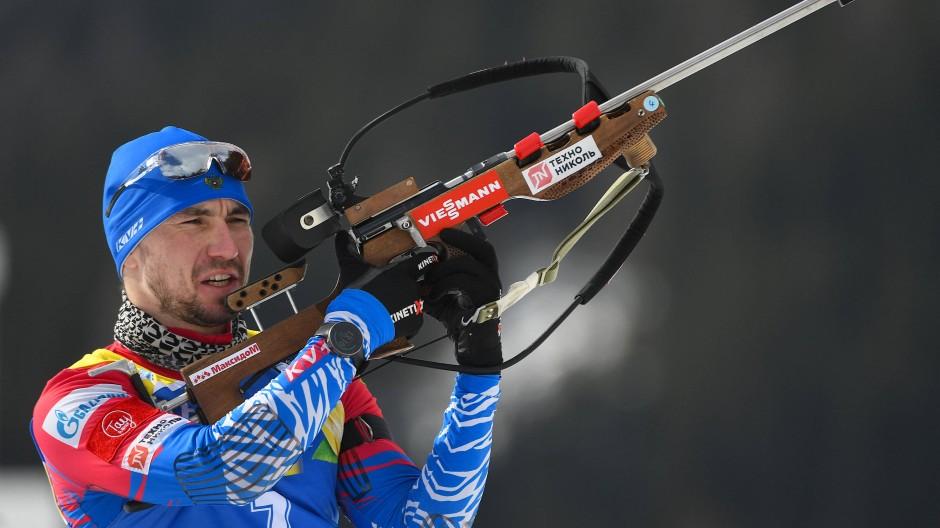 Alexander Loginow beim Anschiessen vor dem Wettbewerb – drei Tage später durchsucht die Polizei sein Hotelzimmer.