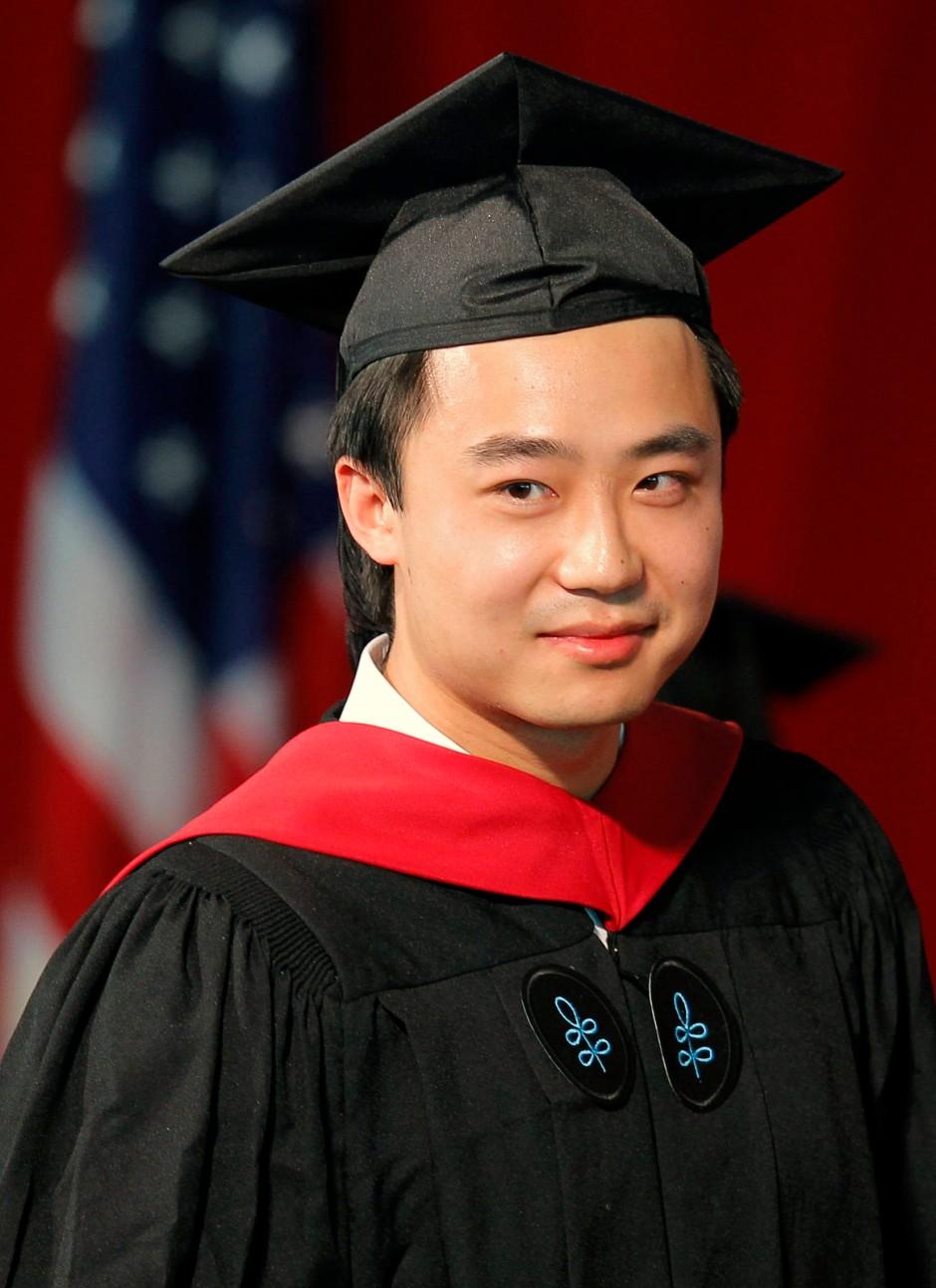 Bo Guagua bei seinem Studienabschluss an der Harvard University im Mai 2012