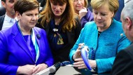 Merkel und Szydło zu Besuch auf der Hannover-Messe