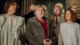 Merkel besucht Synagoge in Berlin