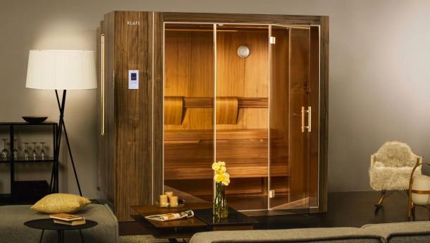 ausfahrbar: sauna für das wohnzimmer, Wohnzimmer