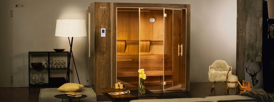 Ausfahrbar: Sauna für das Wohnzimmer
