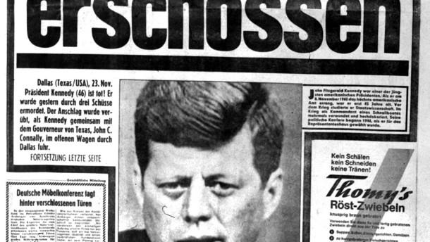 """Die Berliner """"Bild""""-Zeitung am 23. November 1963"""