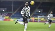 Manchester-United-Spieler Paul Pogba in der Partei gegen den FC Burnley