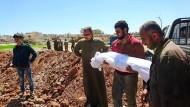 Trauer und Tod: Beerdigung in Idlib am Mittwoch