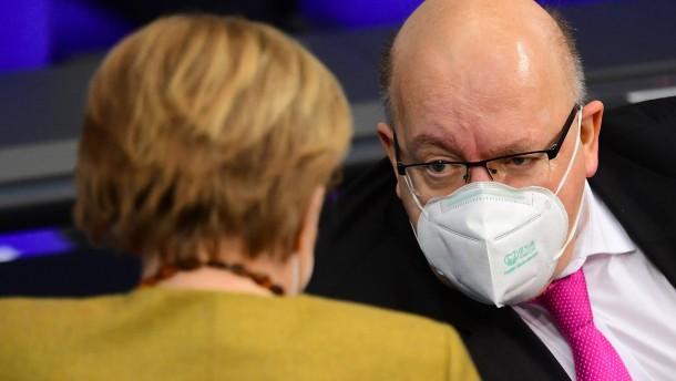 Altmaier sieht Lockerungen wegen Mutationsrisiko skeptisch