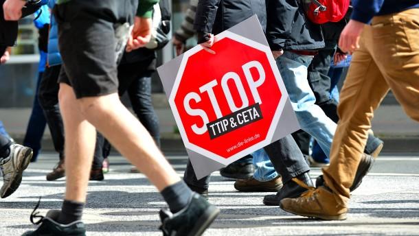Marschieren gegen TTIP