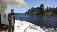 Schön hier: Der damalige Ministerpräsident Putin zu Besuch in der Gegend von Walaam im August 2011