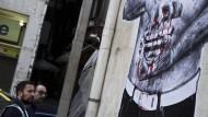 Wandmalerei in Athen.