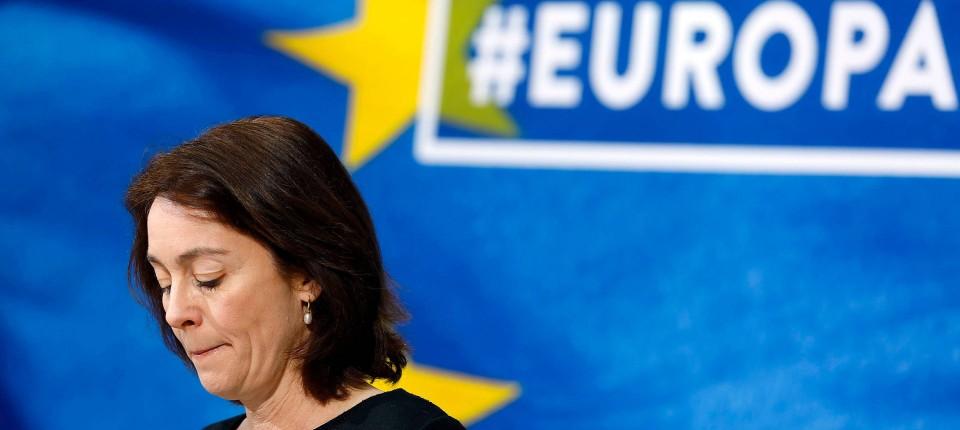"""Justizministerin Katarina Barley war federführend bei dem Ja der Bundesregierung zur Urheberrechtsreform in Brüssel. Der Koalitionsvertrag hält Upload-Filter allerdings für """"unverhältnismäßig""""."""