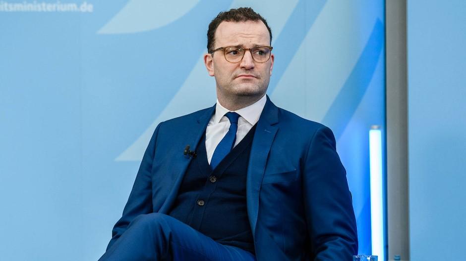 Gequältes Gesicht: Gesundheitsminister Jens Spahn