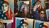 Protest gegen Einreiseverbot für Muslime