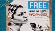 Syrische Oppositionelle verbreiten ihr Bild auf Hauswänden und Informationen im Internet: Razan Zeitouneh