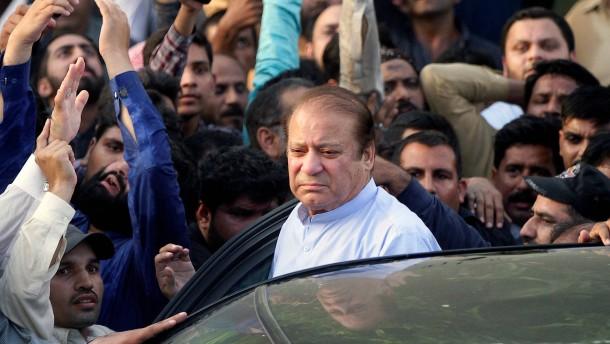 Pakistans früherer Premierminister Sharif wieder frei