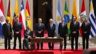 Staatsvertreter verschiedener südamerikanischer Länder treffen in Chile zusammen, um einen neuen Regionalbund zu gründen.