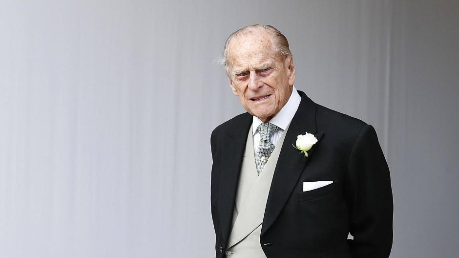 Wurde 99 Jahre alt: Prinz Philip bei der Hochzeit seiner Enkelin Prinzessin Eugenie im Jahr 2018.