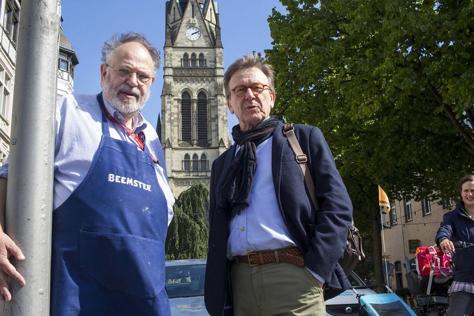 Zwei, die Münster gut kennen: Händler Jauch und der ehemalige Oberbürgermeister Tillmann