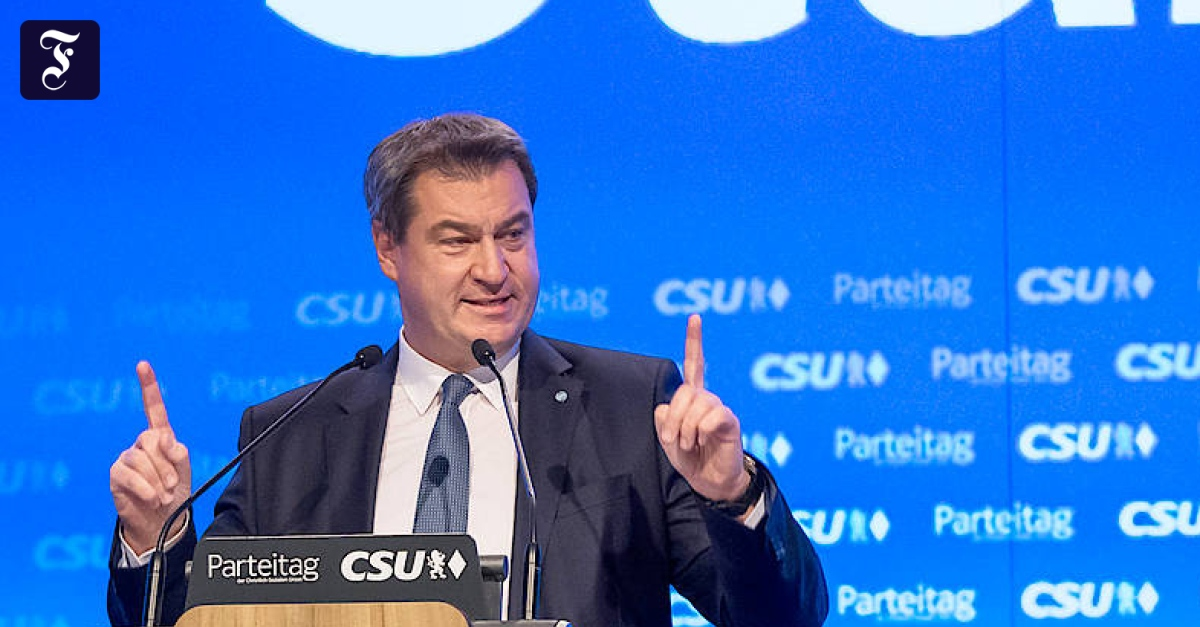"""CSU-Chef Markus Söder: """"CDU-Vorsitz ist das eine, Kanzlerkandidatur das andere"""""""