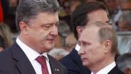 Poroschenko verkündet Einigung mit Russland
