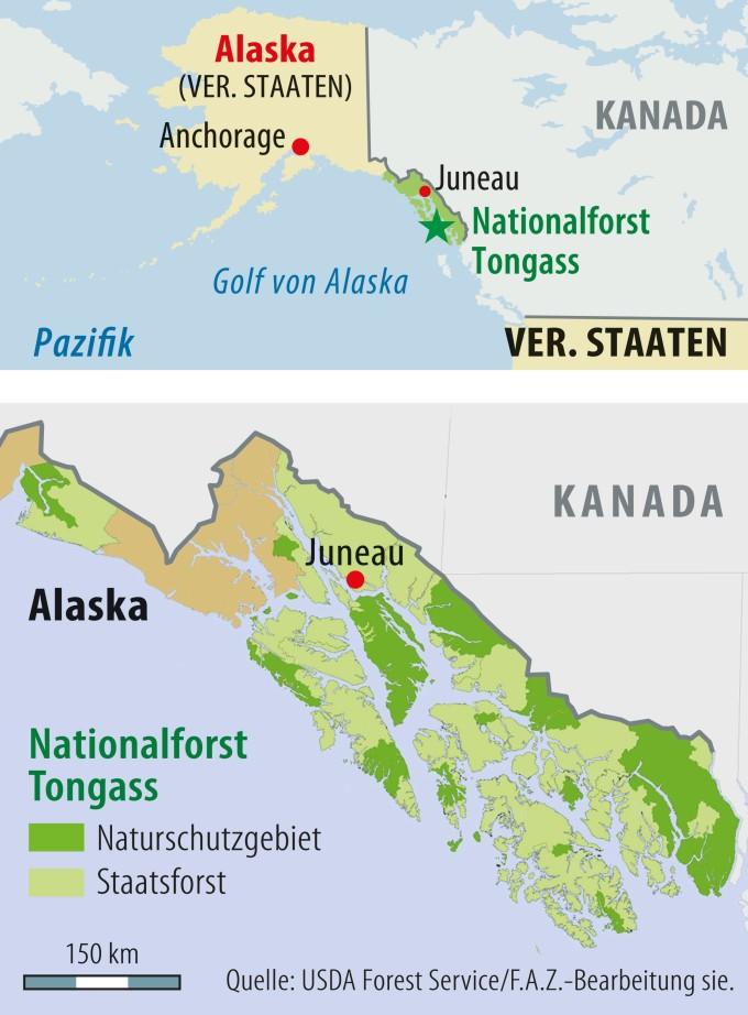Golf Von Alaska Karte.Trump Soll Abholzungen In Alaska Genehmigt Haben