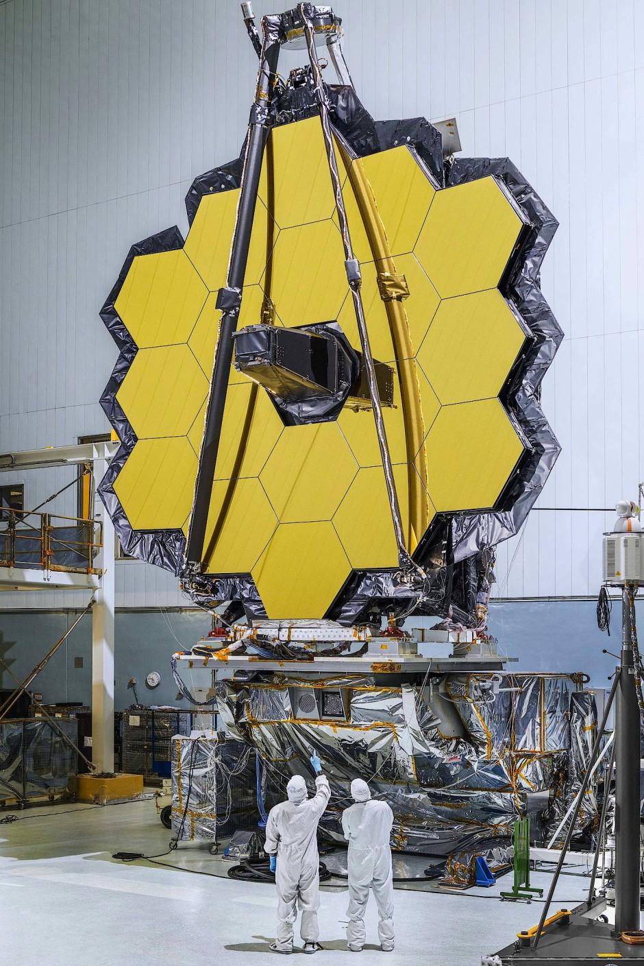 """Das """"James Webb""""-Weltraumteleskop in Arbeit."""