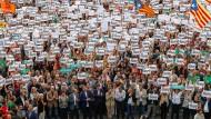 Großdemonstration in Barcelona, angeführt von der katalanischen Regionalregierung