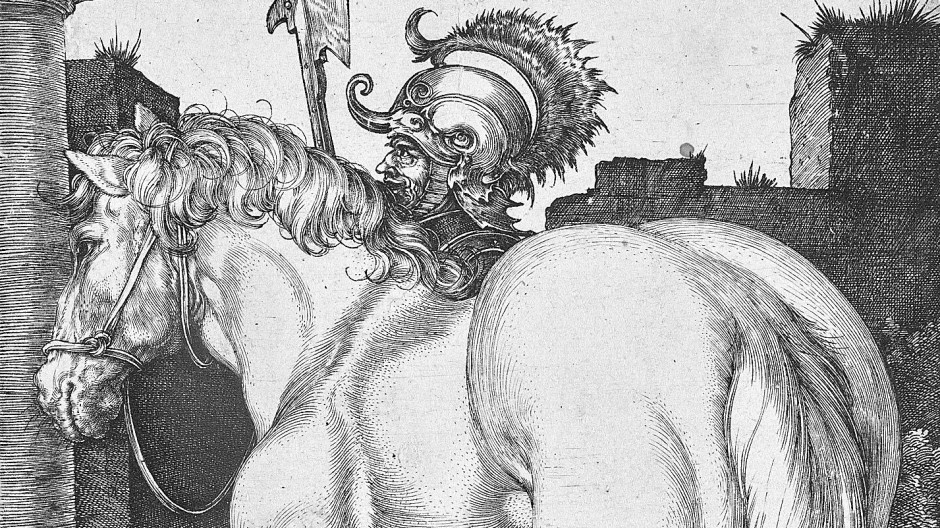 """Kriegsheimkehrer Schlachtross: Dürers """"Großes Pferd"""" von 1505"""
