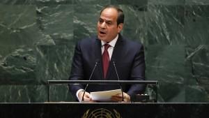 Ägyptens Präsident: Araber offen für umfassenden Frieden in Nahost