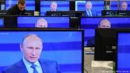 Immer auf Sendung: Wladimir Putin.