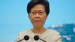 Hongkong erbost über Amerikas Sanktionen gegen Regierungschefin
