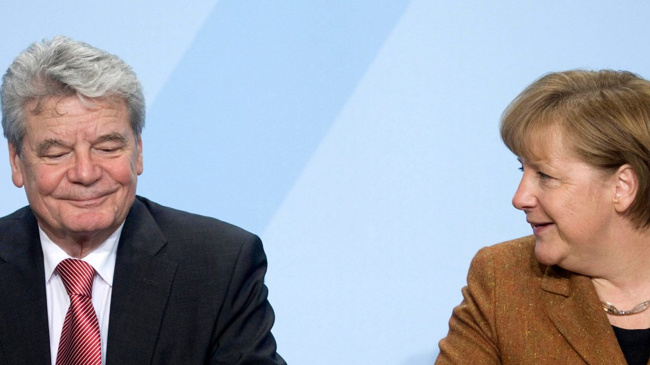 Mit dem Segen der Kanzlerin: Joachim Gauck