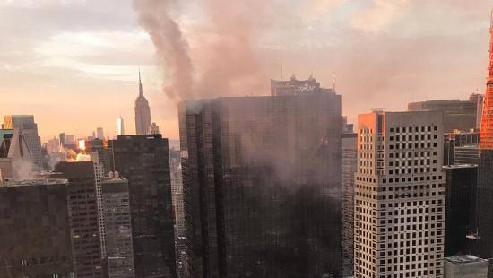 Verletzte bei Brand in Trump-Tower