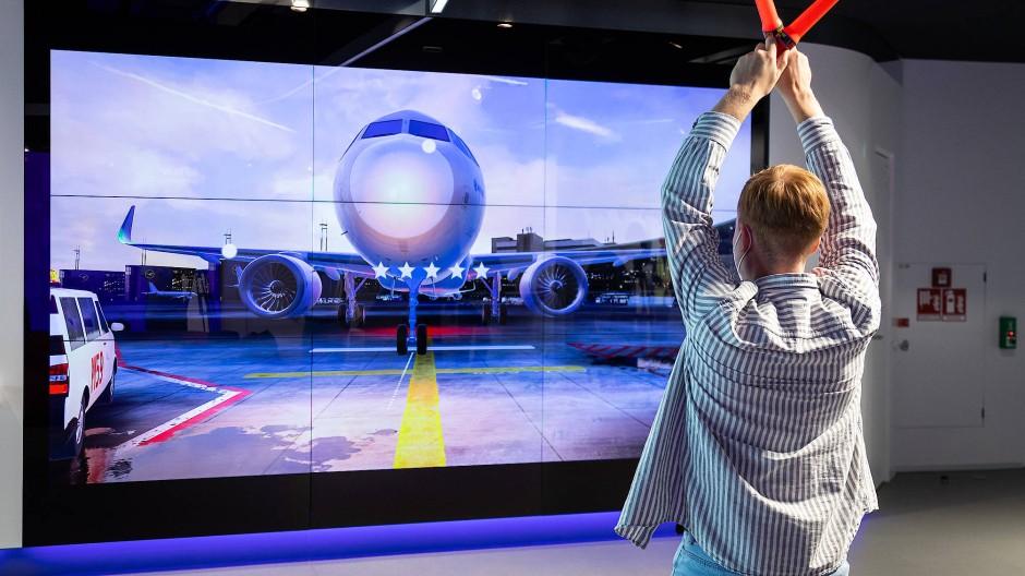 Richtungsweisend: So dirigiert man virtuell ein Passagierflugzeug.