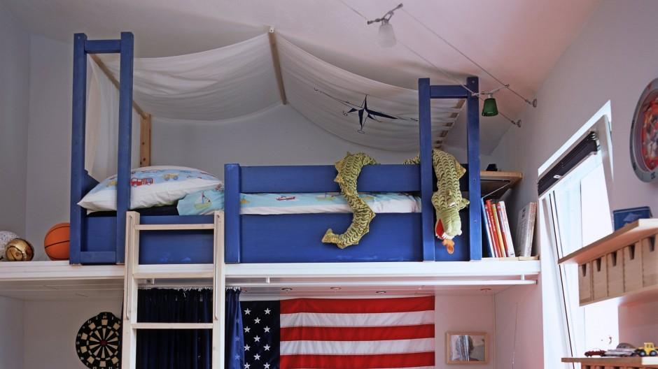 Gefahrenquelle? Kinderzimmer mit Etagenbett.