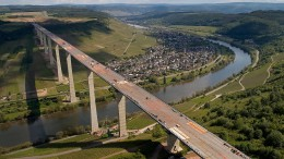 Die zweithöchste Brücke Deutschlands ist fertig