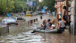 Land unter in Lviv